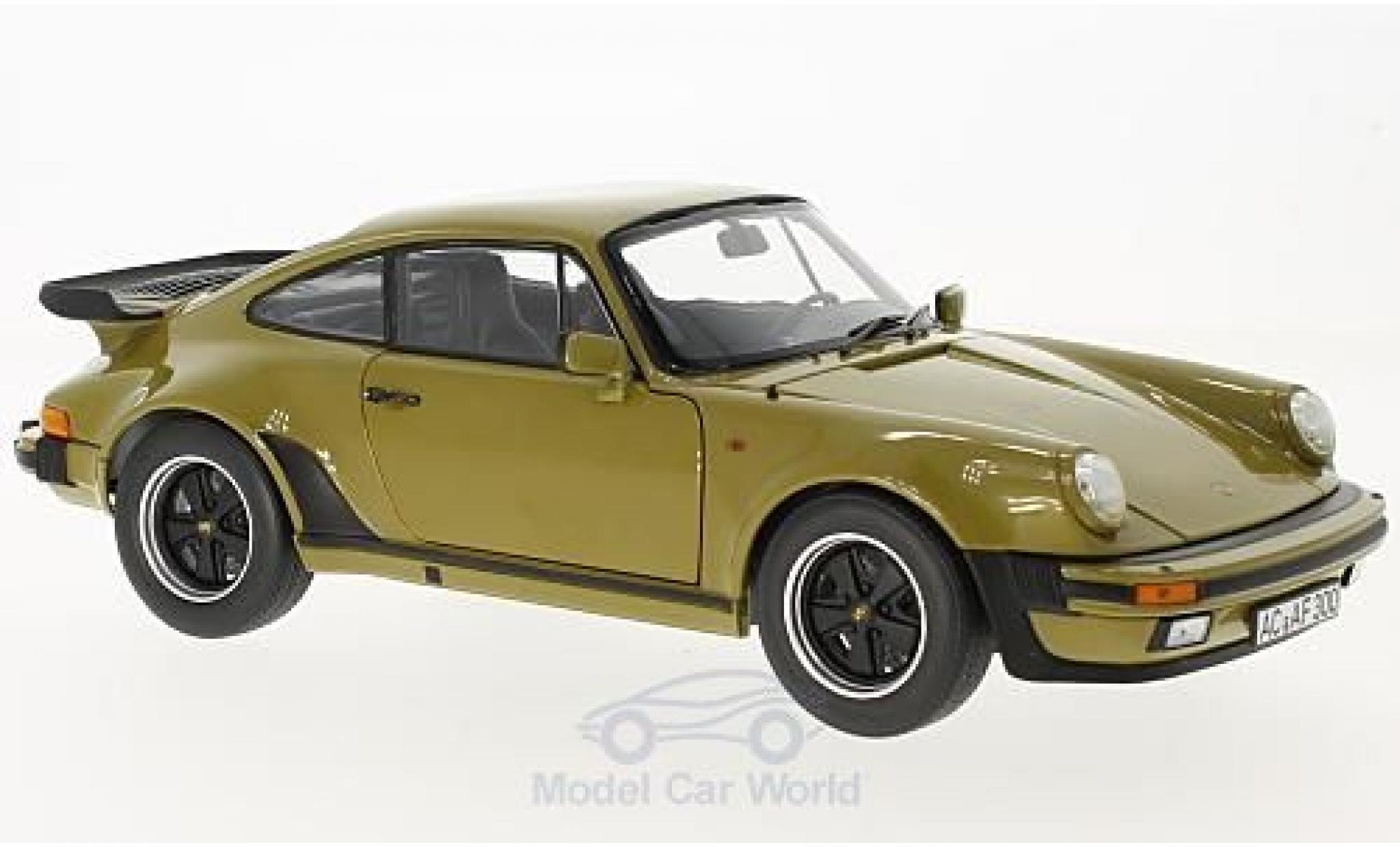 Porsche 930 Turbo 1/18 Norev 911 3.3 oliv 1977