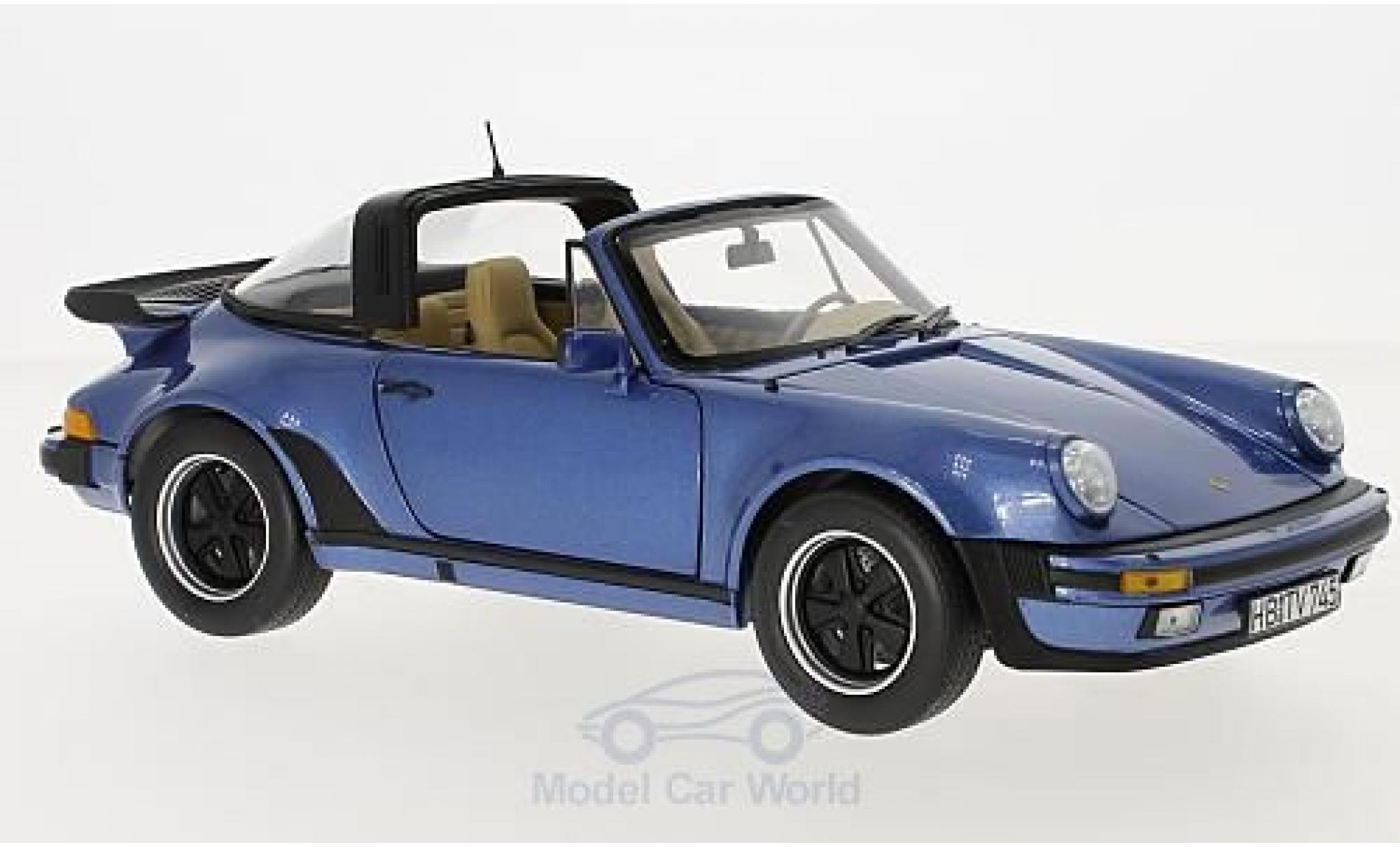 Porsche 930 Turbo 1/18 Norev 911 Targa metallise blue 1987