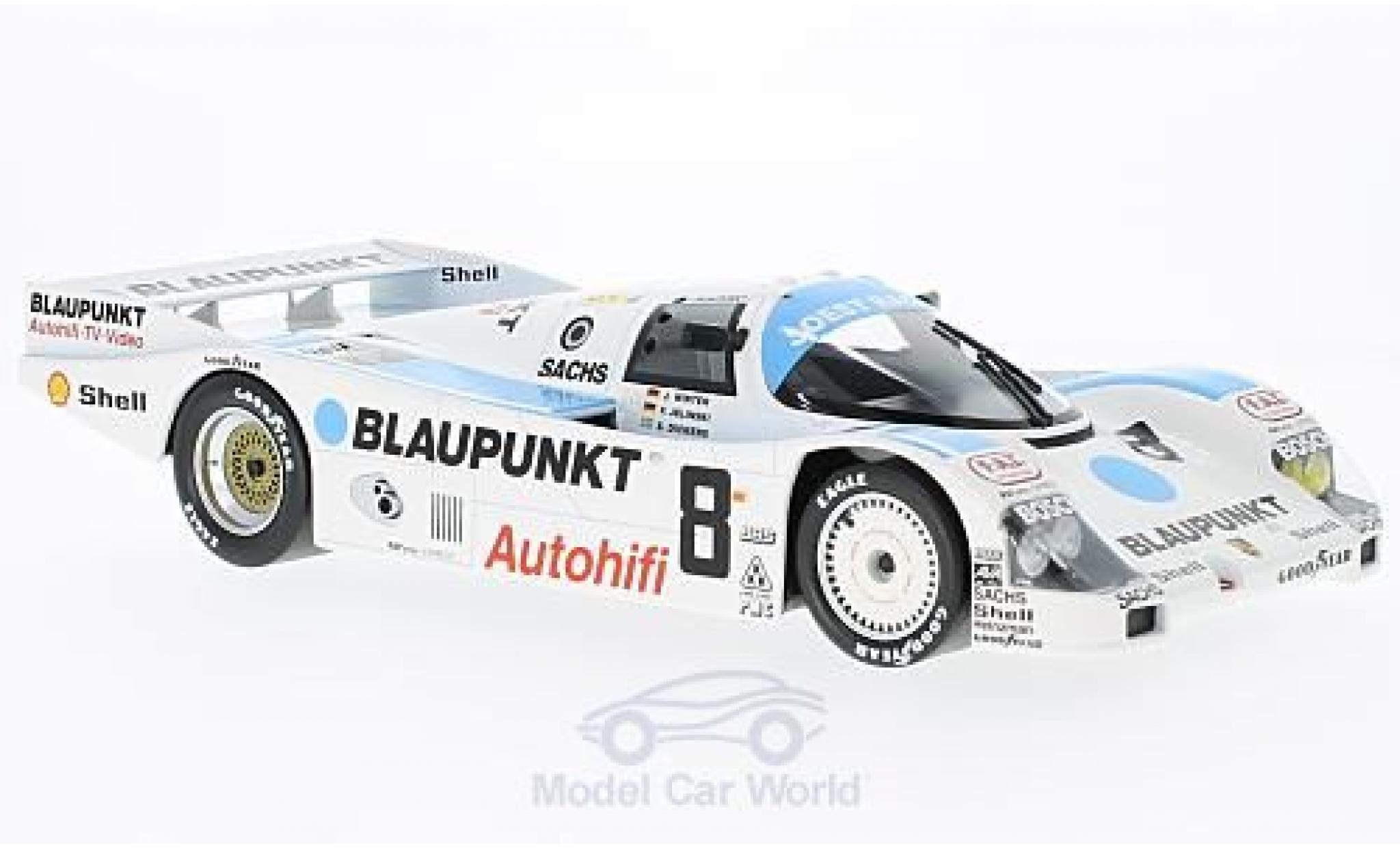 Porsche 962 1988 1/18 Norev C No.8 Blaupunkt 24h Le Mans J.Winter/F.Jelinski/S.Dickens