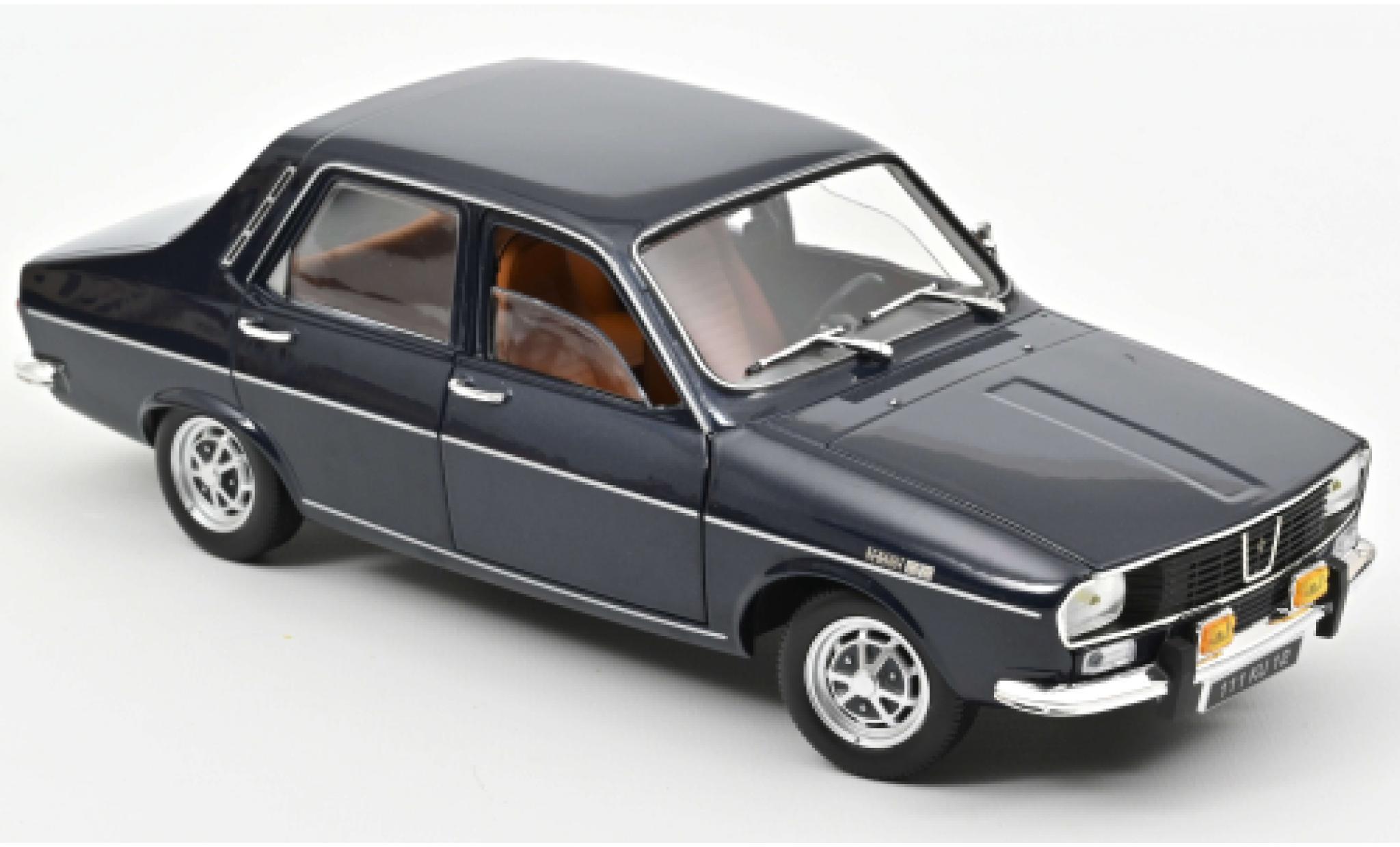 Renault 12 1/18 Norev TS metallise bleue 1973