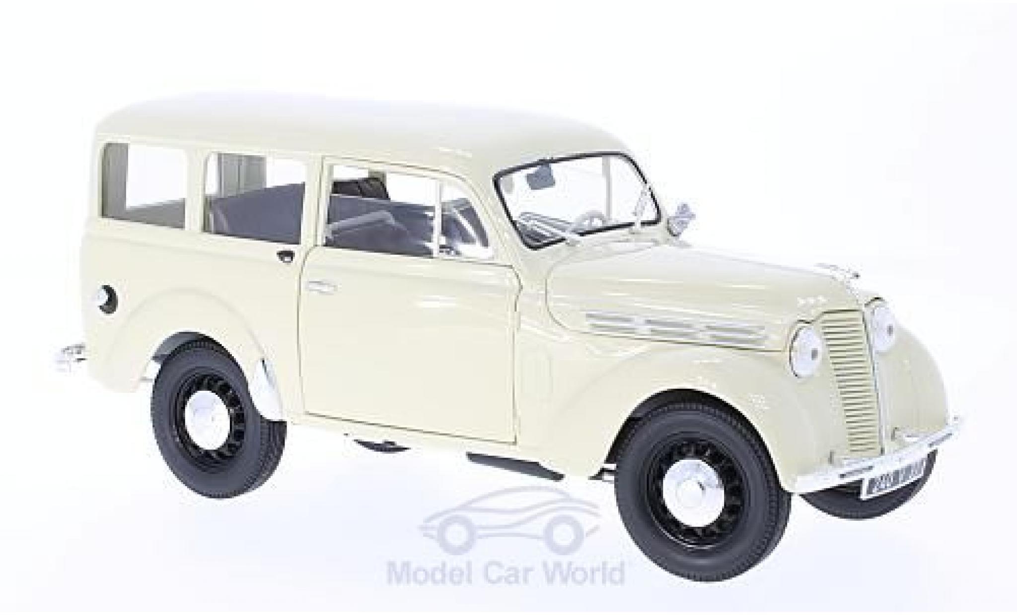 Renault 30 1/18 Norev 0 kg Juvaquatre beige 1951 ohne Vitrine