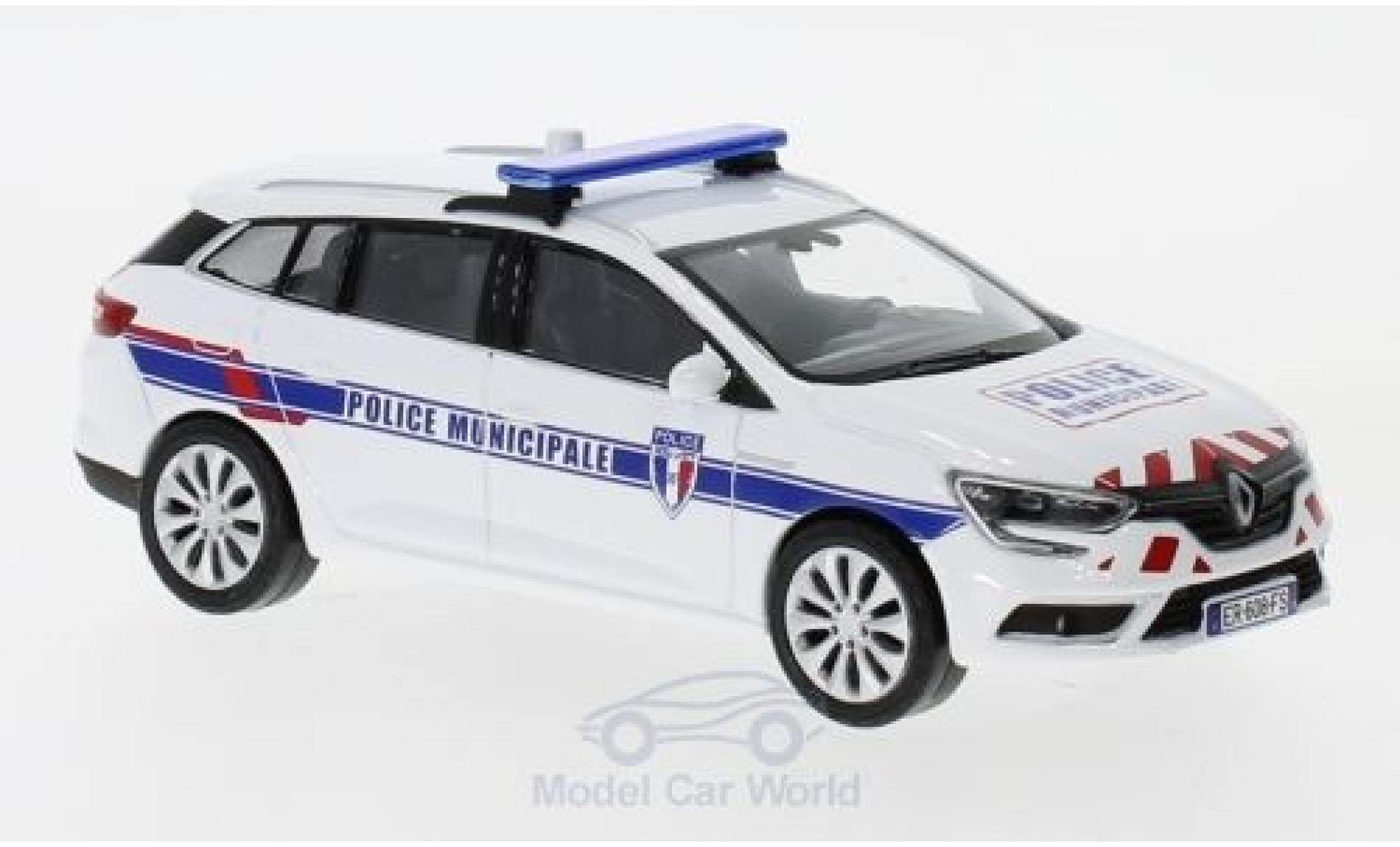 Renault Megane 1/43 Norev Estate Police Municipale (F) 2016