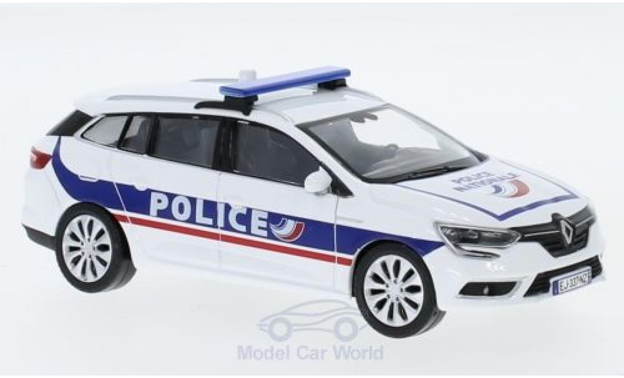 Renault Megane 1/43 Norev Estate Police Nationale (F) 2016