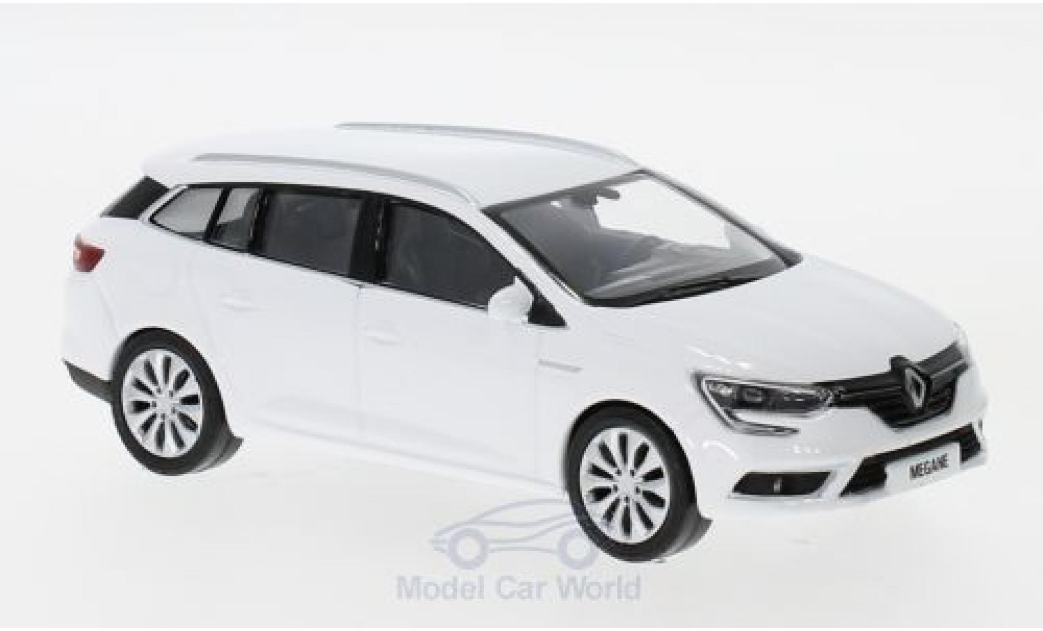 Renault Megane 1/43 Norev Estate blanche 2016