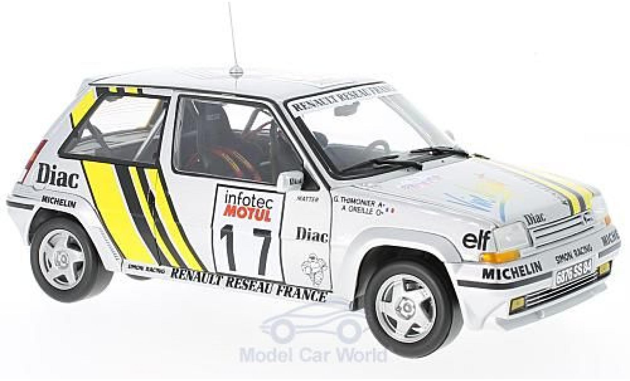 Renault 5 GT Turbo 1/18 Norev Supercinq GT Turbo No.17 Rallye WM Tour de Corse 1989 J.Ragnotti/G.Thimonier