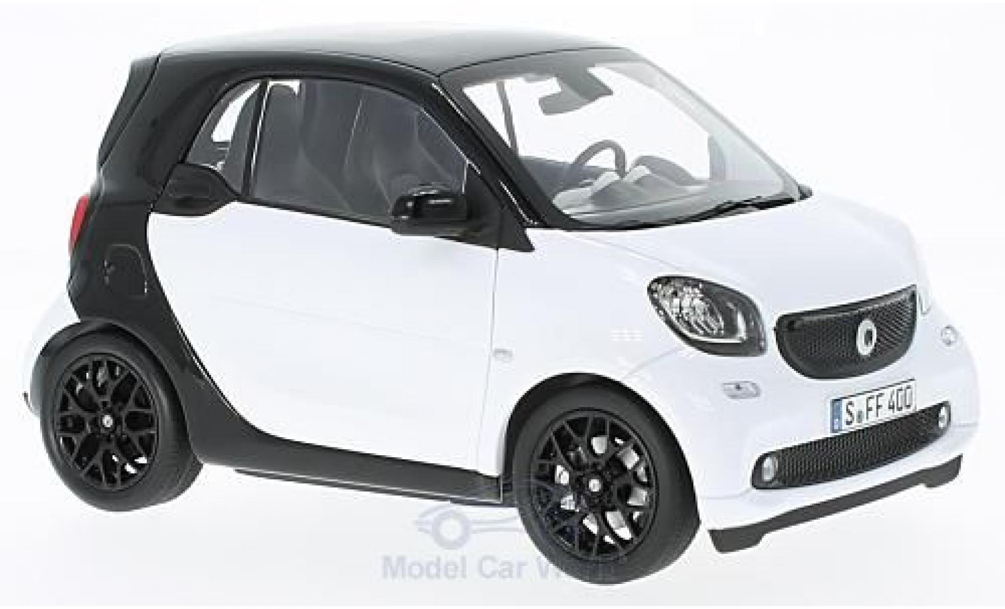 Smart ForTwo 1/18 Norev fortwo blanche/noire 2015