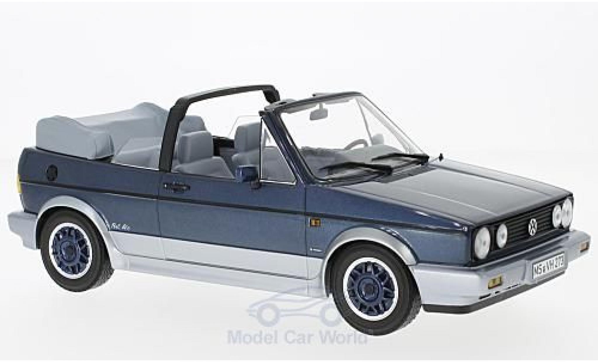 Volkswagen Golf V 1/18 Norev I Cabriolet Bel Air metallic-bleue/grise 1992