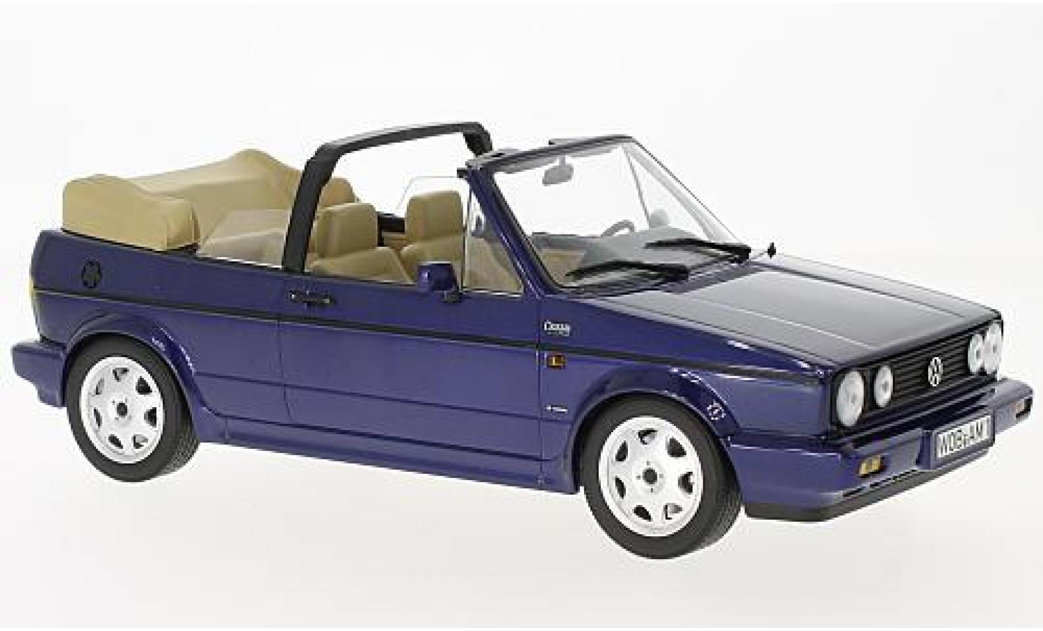 Volkswagen Golf 1/18 Norev I Cabriolet Classic Line metallise bleue 1992