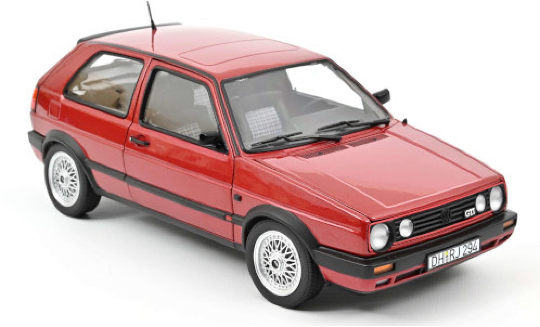 Volkswagen Golf 1/18 Norev II GTI metallise red 1990