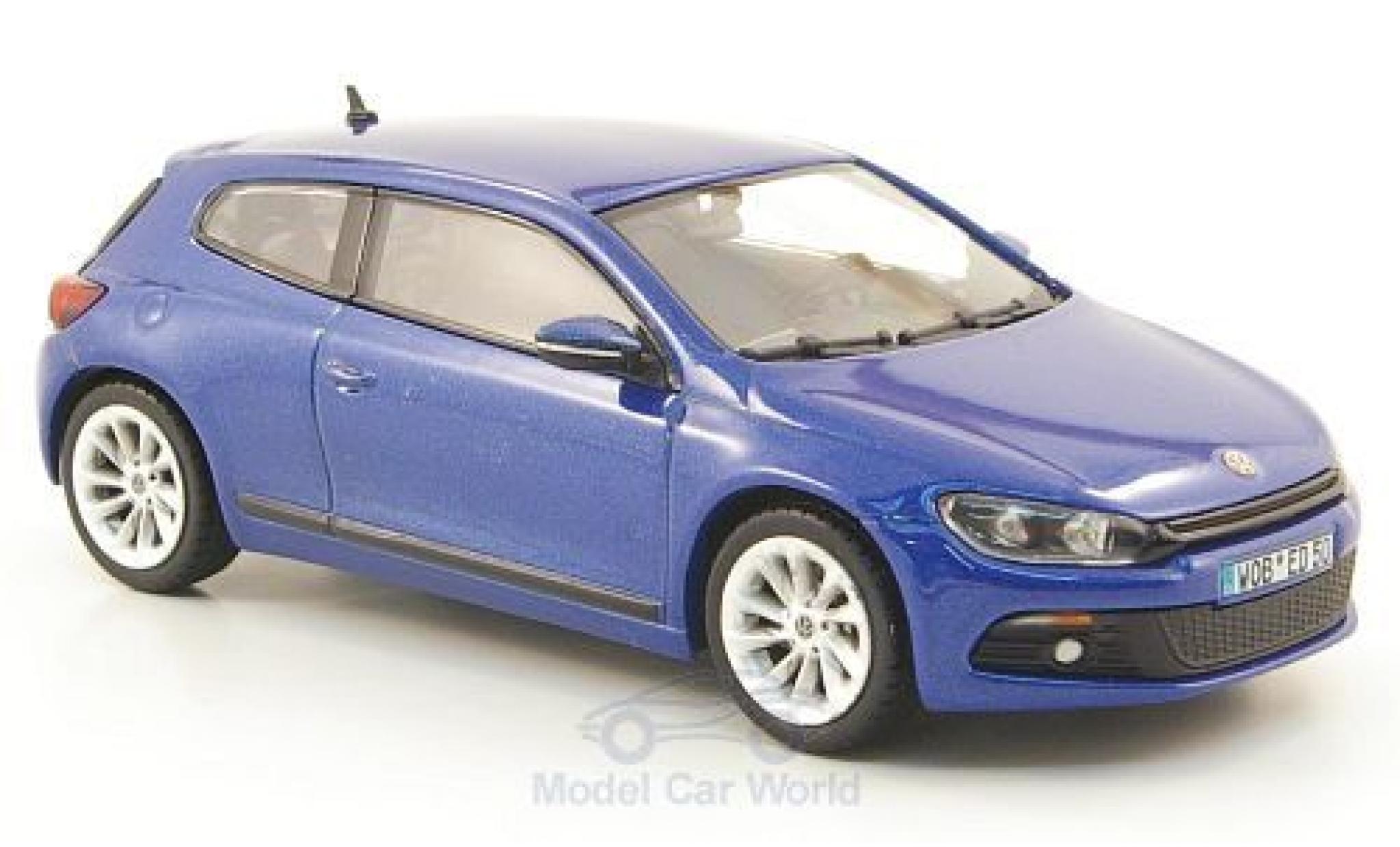 Volkswagen Scirocco 1/43 Norev 3 metallise bleue 2008