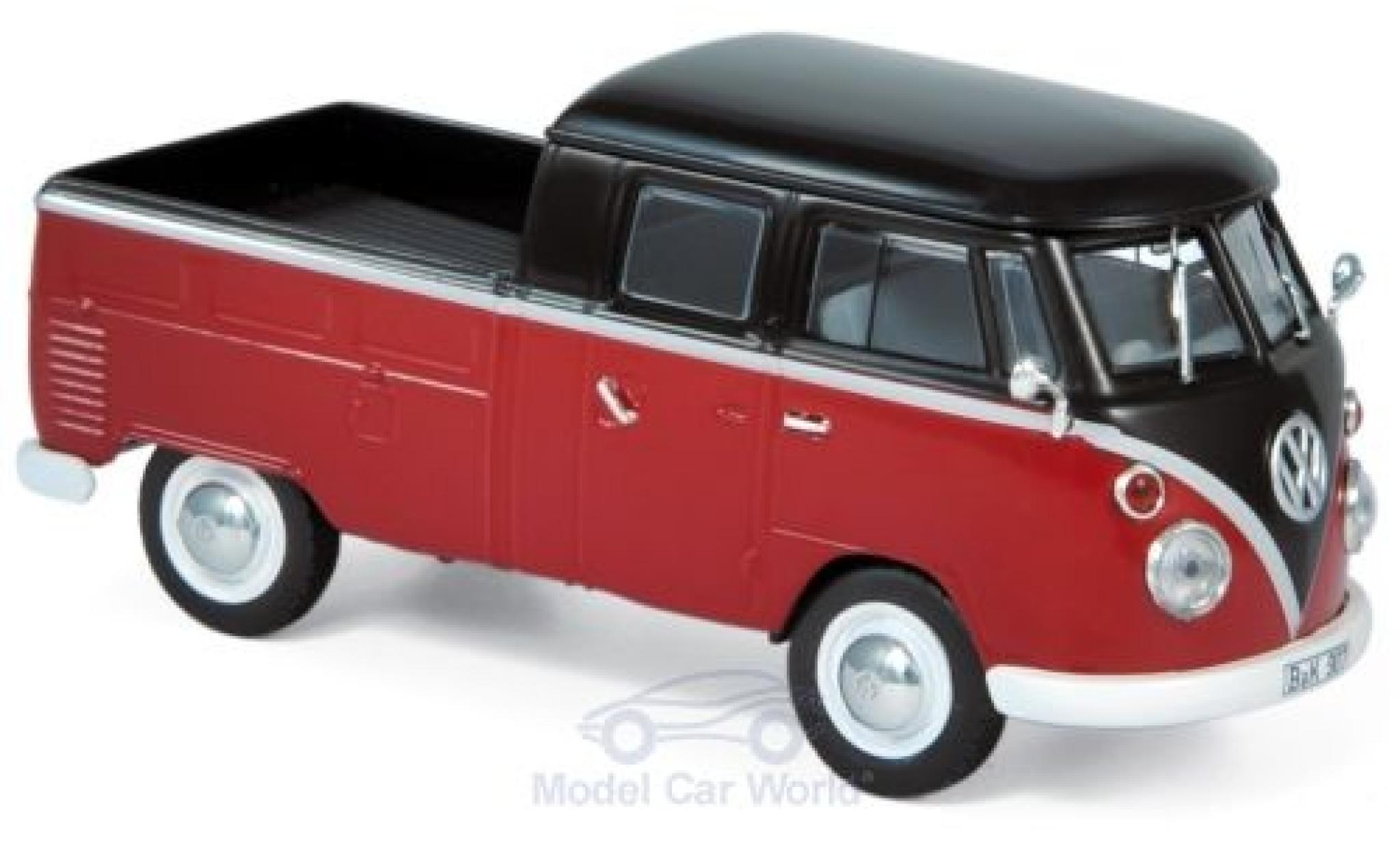 Volkswagen T1 1/43 Norev Doppelkabine red/black 1961