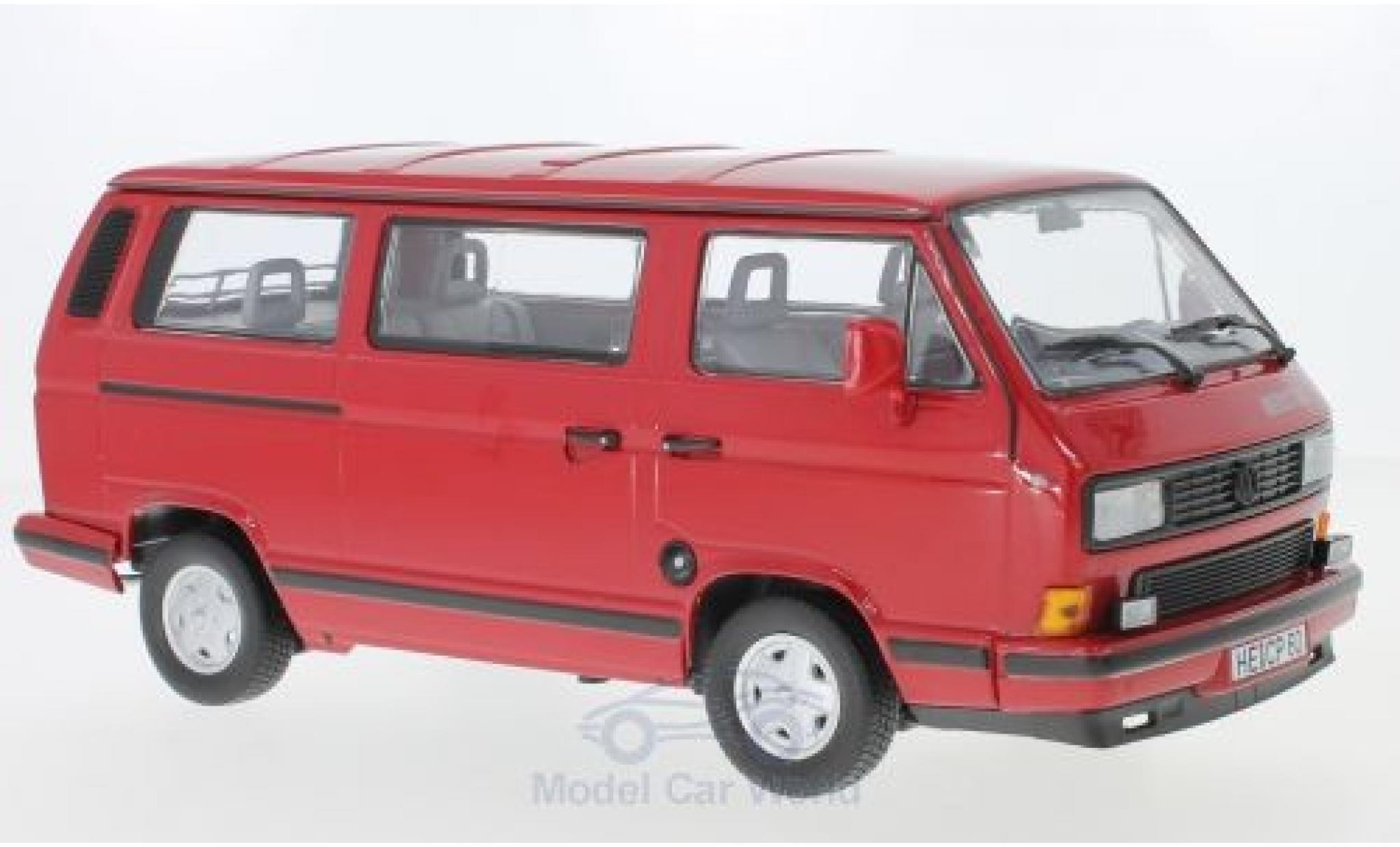 Volkswagen T3 A 1/18 Norev Multivan Redstar red 1992