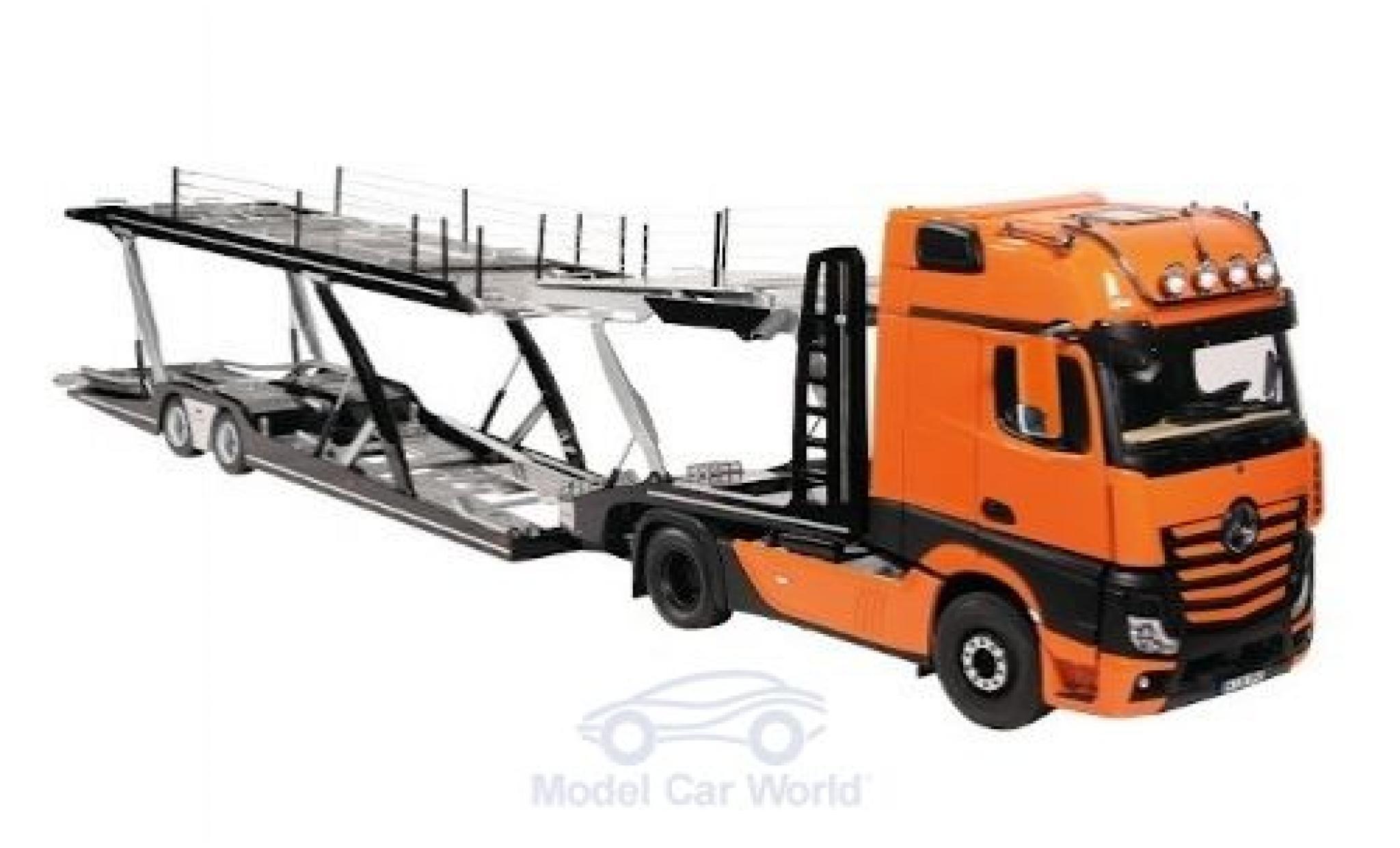 Mercedes Actros 1/18 NZG GigaSpace 4X2 FH25 orange/black Autotransporter