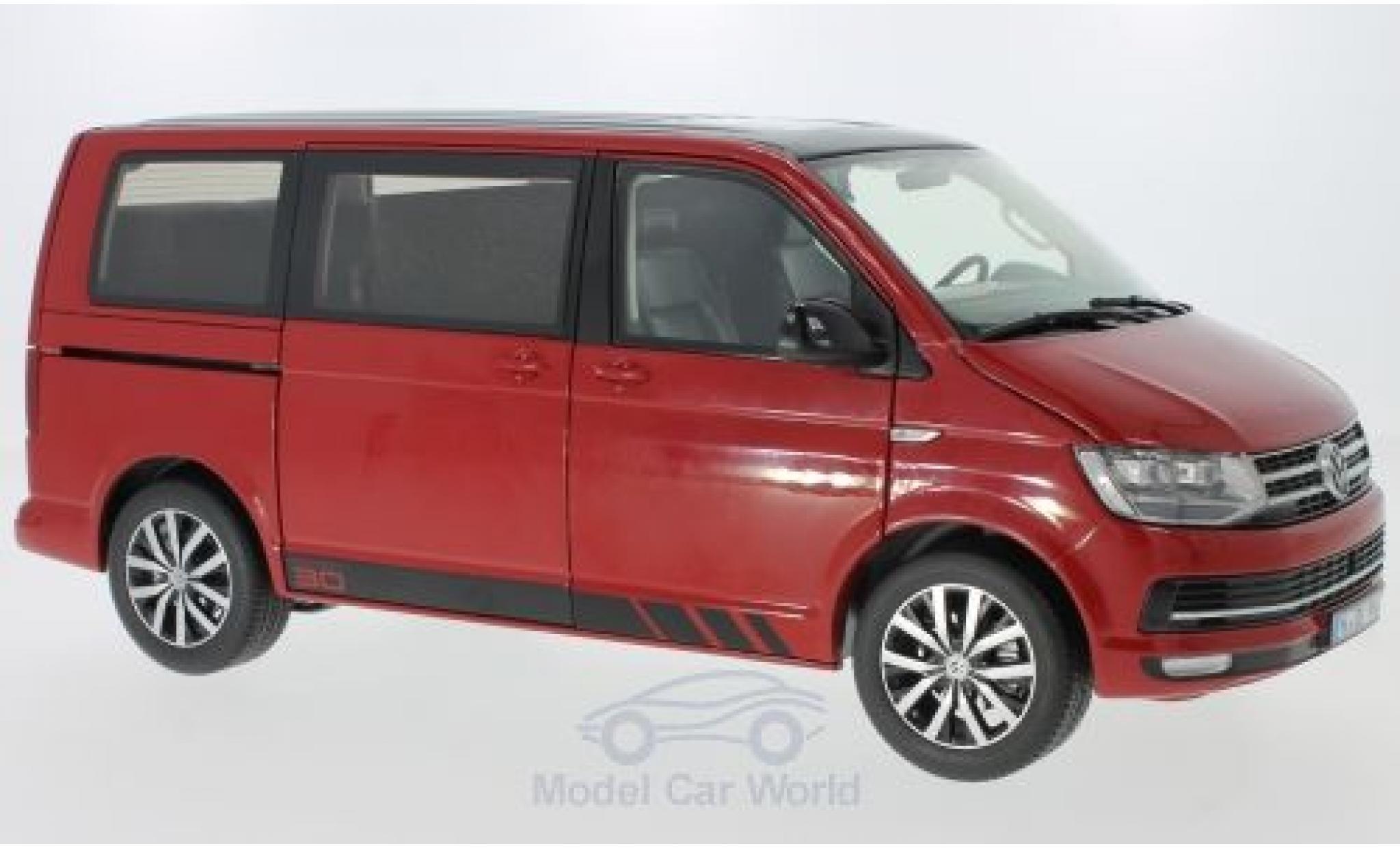 Volkswagen T6 1/18 NZG Multivan red/black 2015 Edition 30