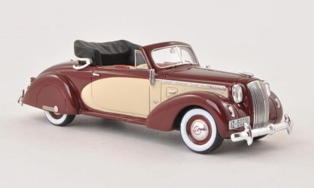 Opel Admiral 1/43 Matrix Hebmuller Cabrio rouge/beige 1938 miniature