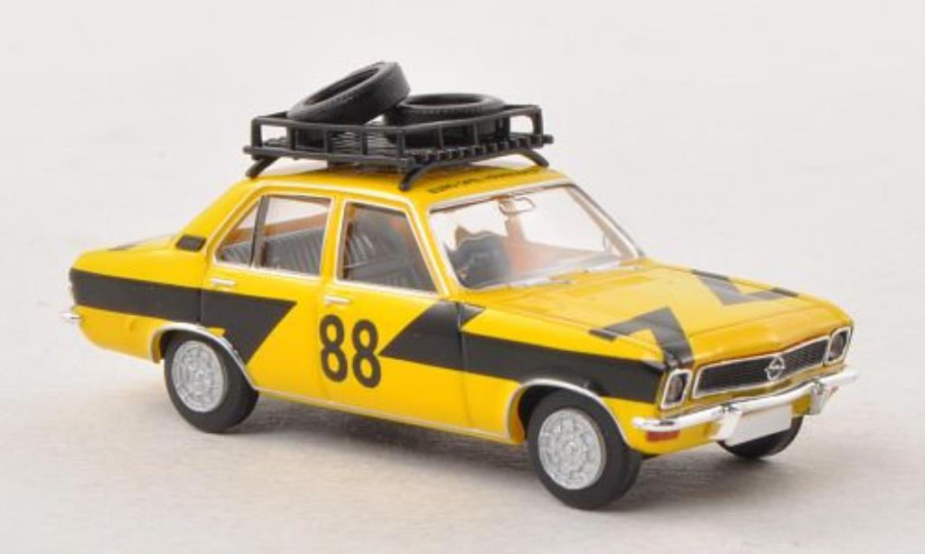 Opel Ascona A 1/87 Brekina Rallye mit Dachladung Reifen miniature