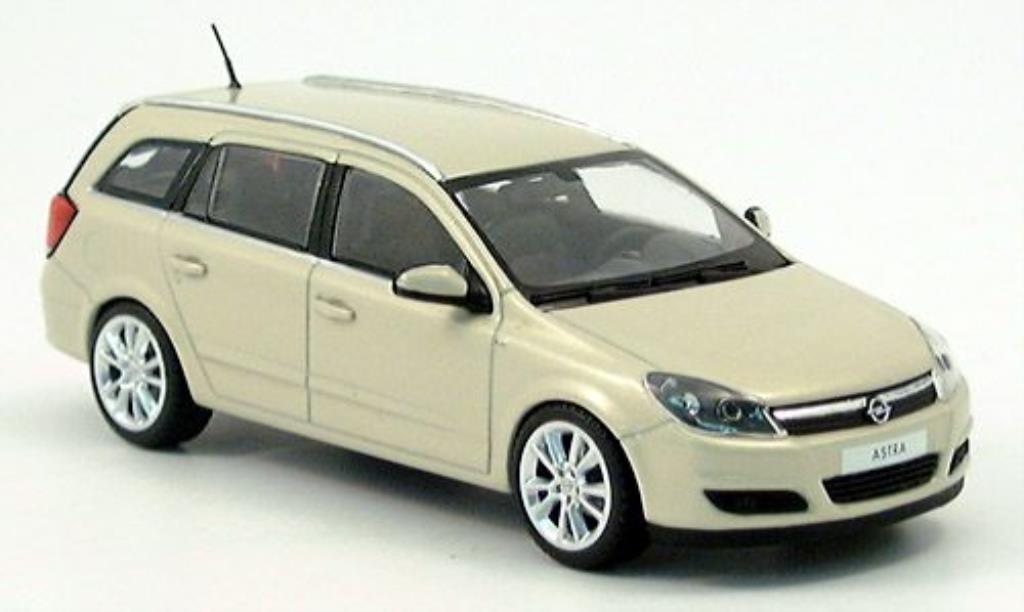Opel Astra 1/43 Minichamps H Caravan beige 2004 miniature