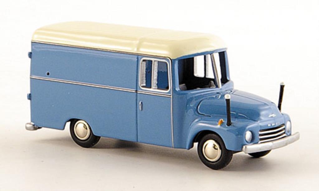 Opel Blitz 1/87 Bub 1.75t Kasten bleu/blanche miniature