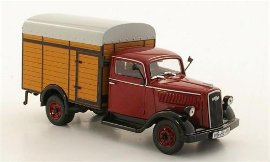 Opel Blitz dunkelrot 1949 Norev. Opel Blitz dunkelrot 1949 modellauto