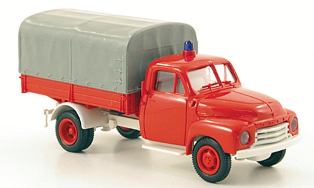 Opel Blitz 1/87 Brekina Feuerwehr PP-LKW miniatura