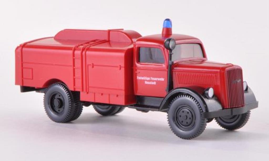 Opel Blitz 1/87 Wiking Kesselwagen Freiwillige Feuerwehr Neustadt 1939 miniature