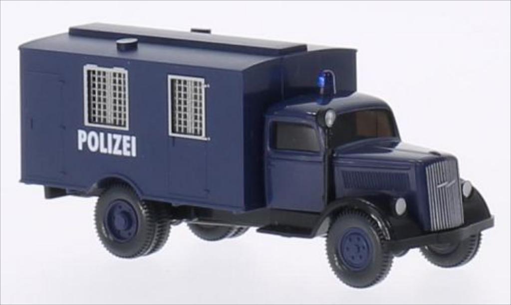 Miniature Opel Blitz Koffer bleu Wiking. Opel Blitz Koffer bleu miniature 1/87