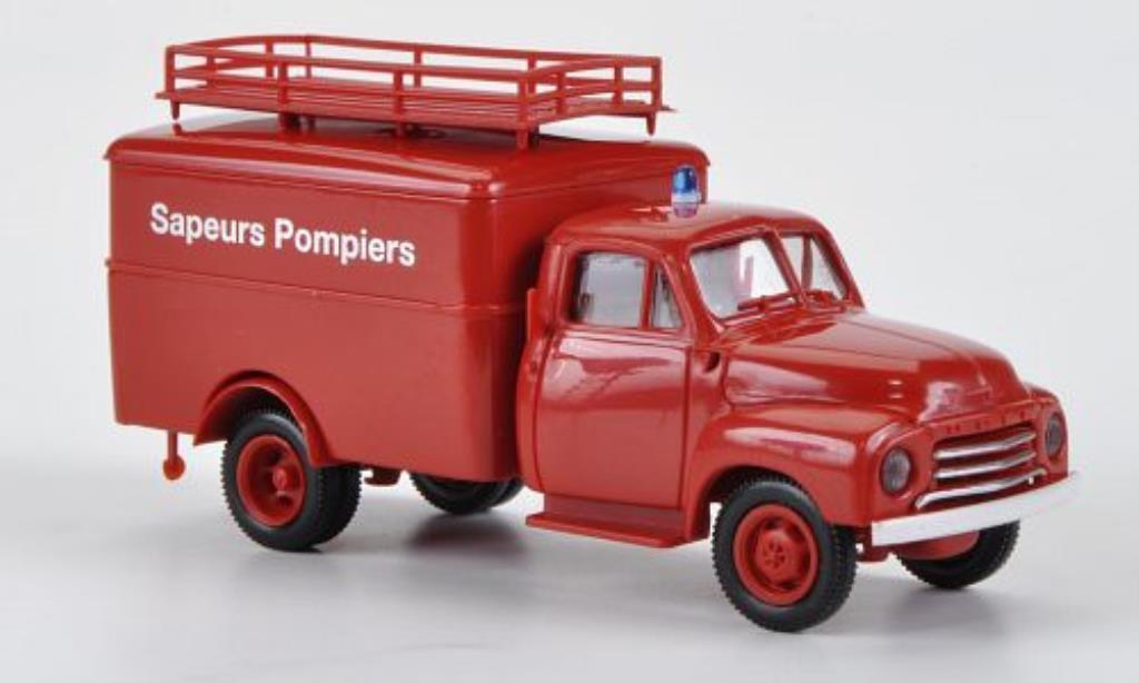 Opel Blitz 1/87 Brekina Koffer Sapeurs Pompiers miniatura