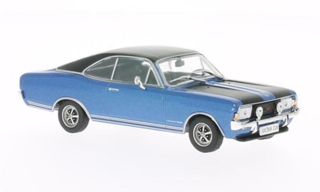 Opel Commodore A 1/43 WhiteBox Coupe GS/E bleu/noire 1970 miniature