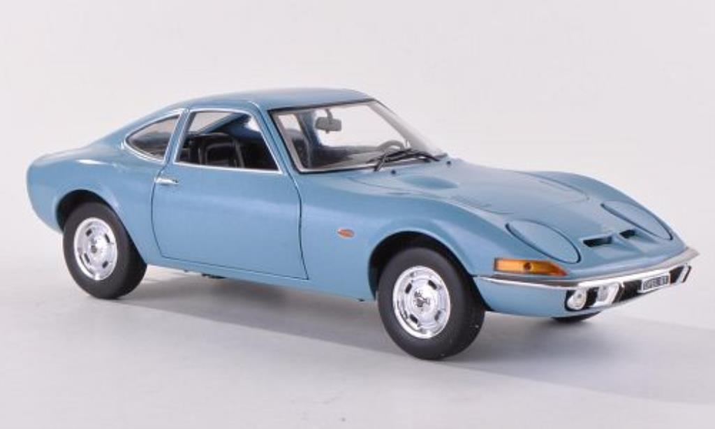 Opel GT 1/24 WhiteBox 1900 bleu 1970 miniature
