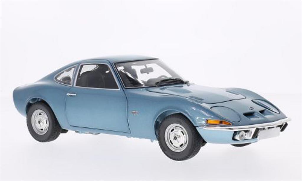 Opel GT 1/18 Minichamps metallise bleu 1972 miniature
