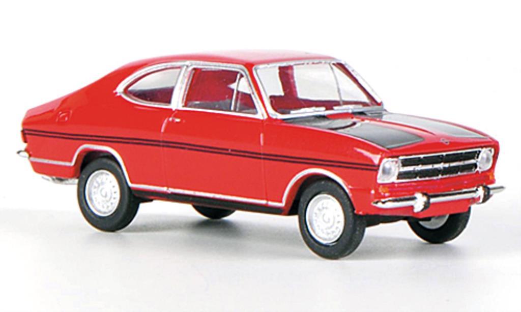 Opel Kadett B 1/87 Herpa Rallye red/black diecast model cars