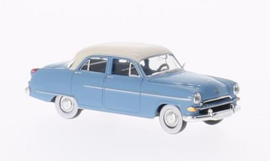 Opel Kapitan 1/87 Brekina bleu/blanche miniature