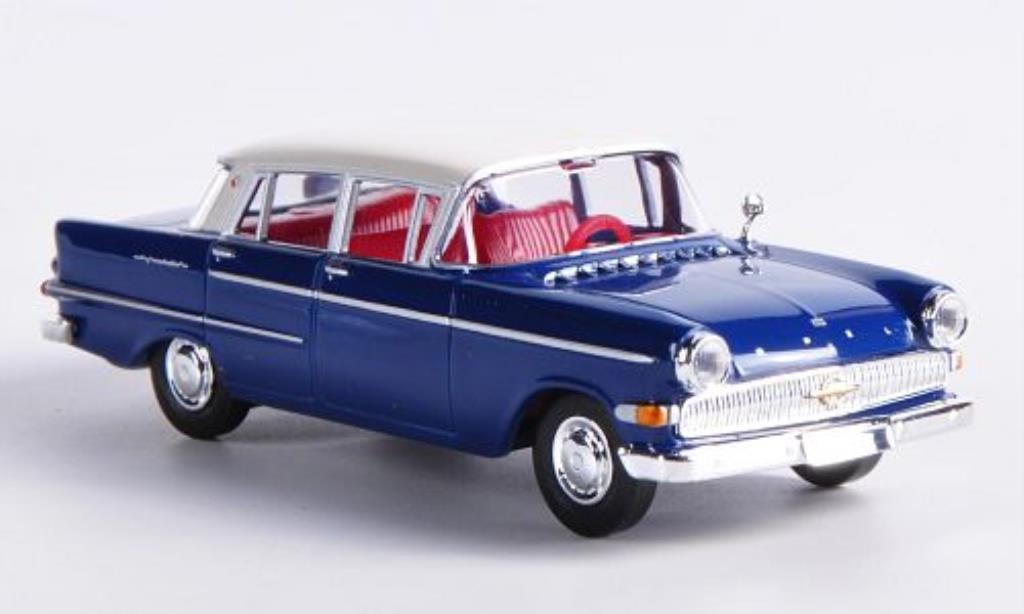 Opel Kapitan 1/87 Brekina P2.6 bleu/blanche miniature