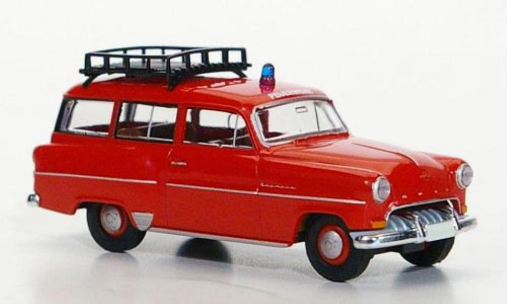 Opel Olympia 1/87 Brekina Caravan Feuerwehr miniatura