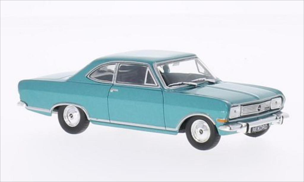 Opel Rekord 1/43 WhiteBox B Coupe metallic-turquoise 1965 miniature