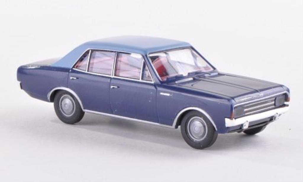 Opel Rekord 1/87 Brekina C bleu/bleu miniature