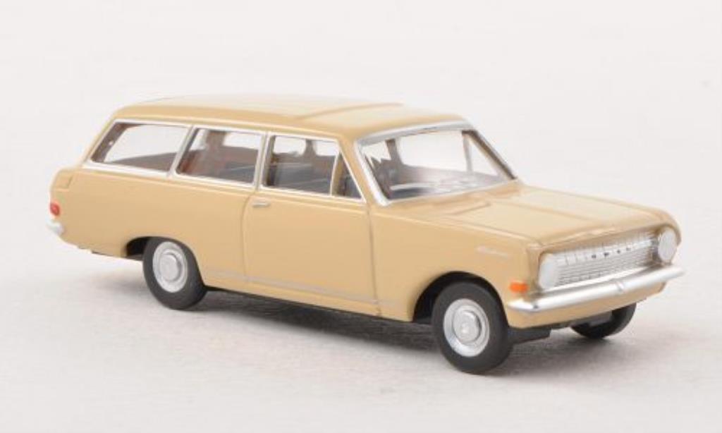 Opel Rekord 1/87 Herpa CarAVan beige miniature