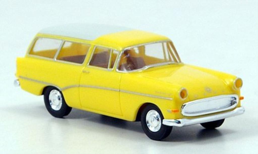 Opel Rekord 1/87 Brekina P 1 Caravan jaune/blanche 1957 miniature