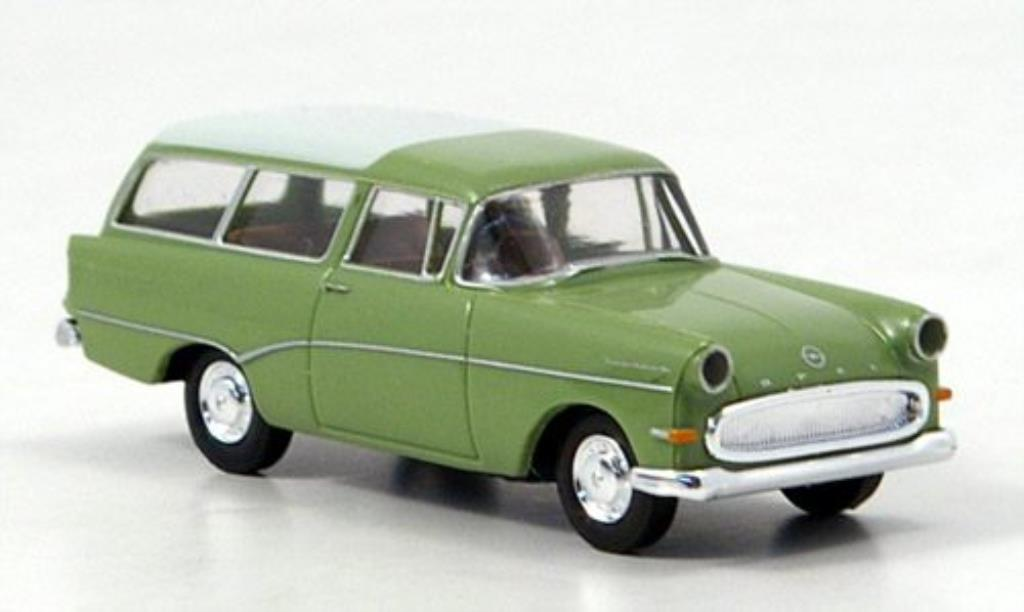 Opel Rekord 1/87 Brekina P 1 Caravan grun/blanche 1957 miniature