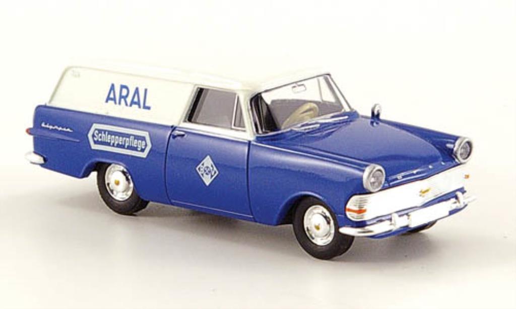 Opel Rekord 1/87 Brekina P2 Kasten Aral Schlepperpflege miniature