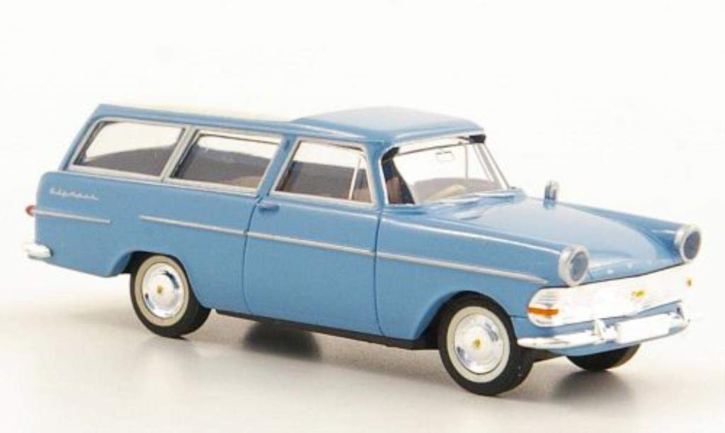 Opel Rekord 1/87 Brekina PII Caravan bleu/blanche miniature