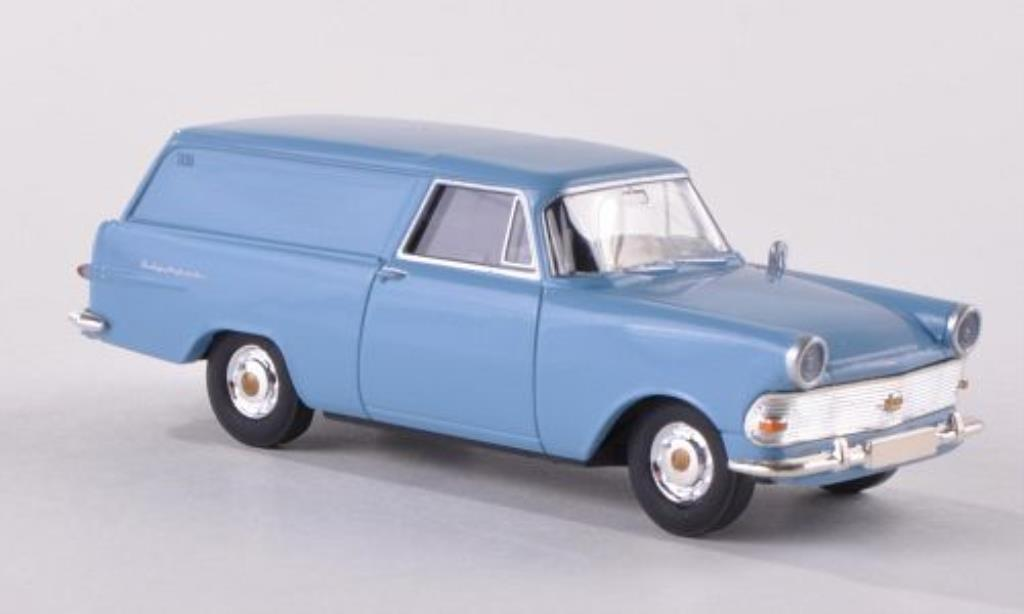 Opel Rekord 1/87 Brekina PII Kasten bleu miniature