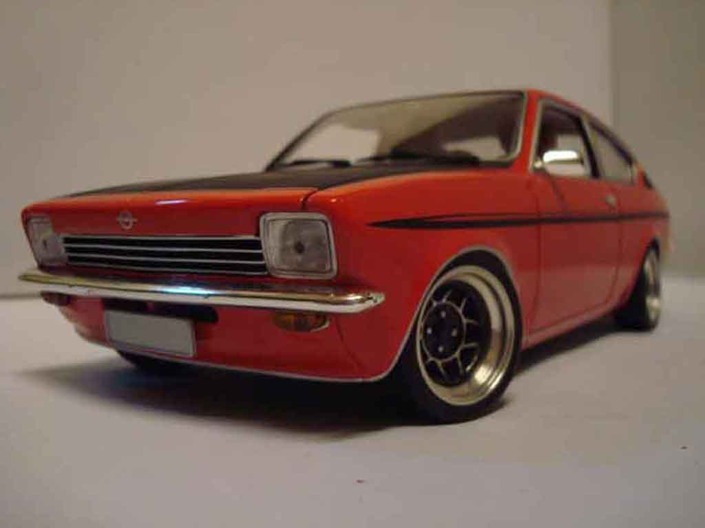 Opel Kadett coupe 1/18 Minichamps coupe sr 1976 rouge tuning miniature