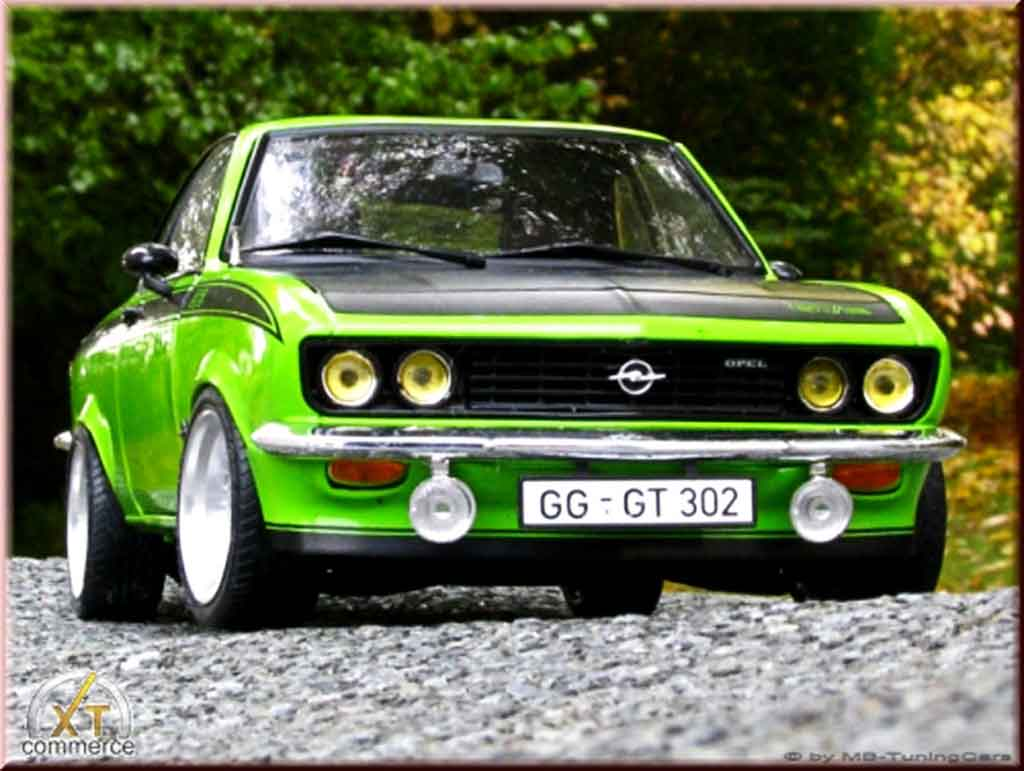 Opel Manta 1/18 Norev gt/e grun 1975 jantes bbs bords larges tuning miniature