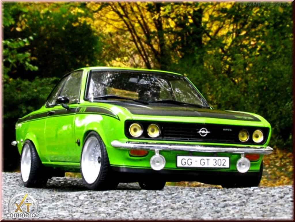 Opel Manta Gt E Green 1975 Wheels Bbs Big Offset Norev
