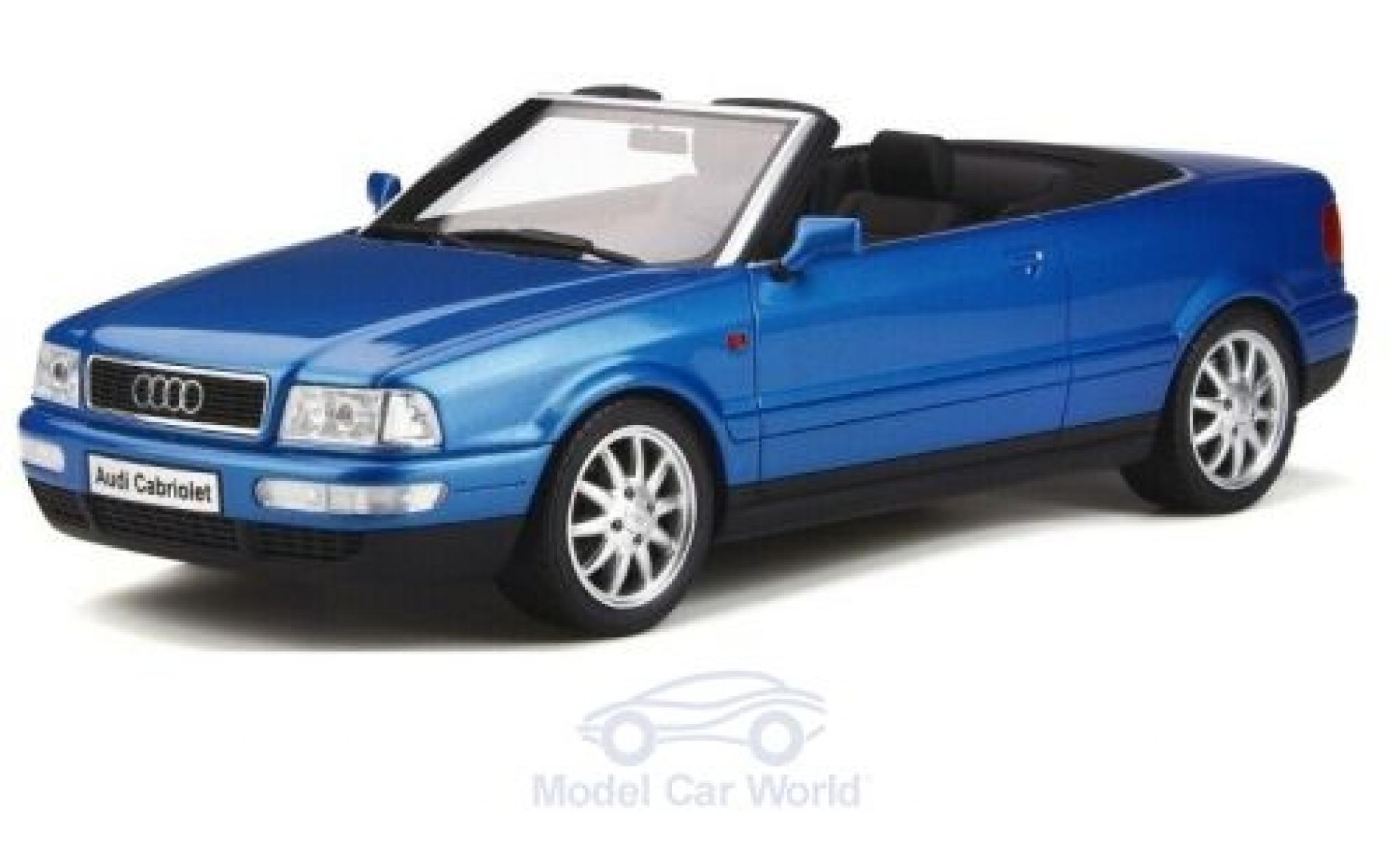 Audi 80 1/18 Ottomobile Cabriolet metallise bleue