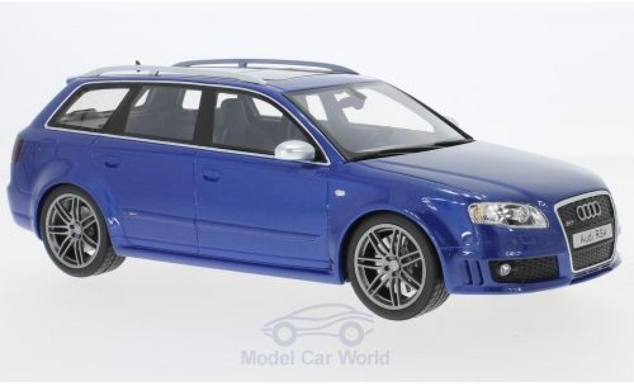 Audi RS4 1/18 Ottomobile (B7) metallic-bleue 2005