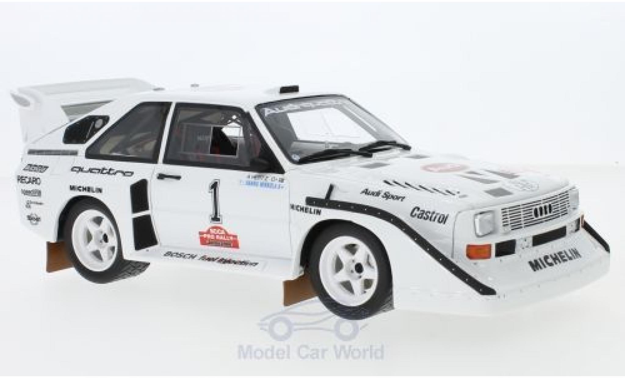 Audi Sport Quattro 1/18 Ottomobile Sport quattro S1 E2 No.1 Olympus Rallye 1985 H.Mikkola/A.Hertz