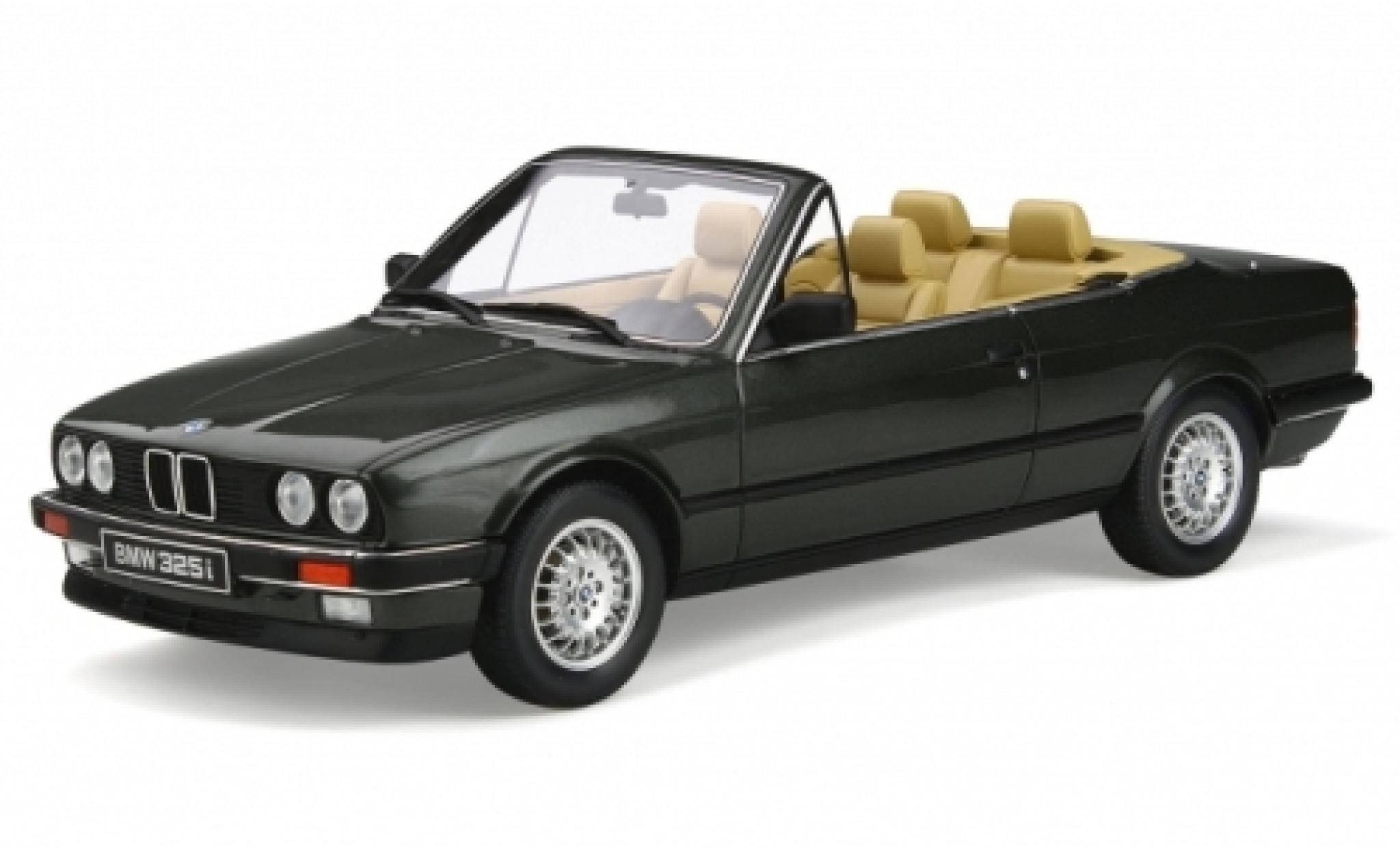 Bmw 325 1/18 Ottomobile i (E30) Cabriolet métallisé verte 1988