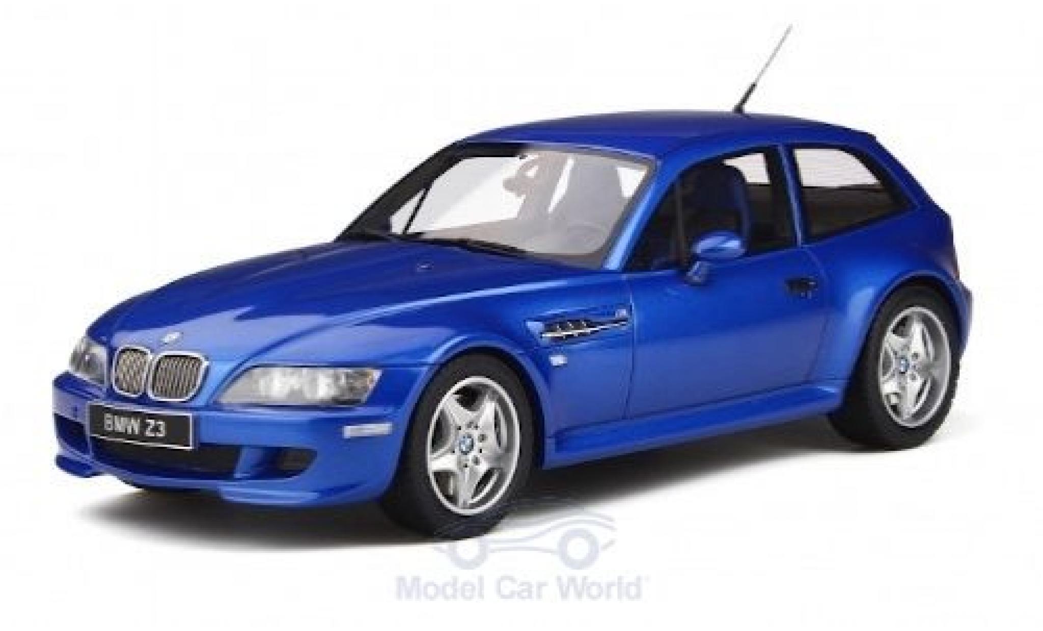 Bmw Z3 1/18 Ottomobile M Coupe 3.2 métallisé bleue 2000